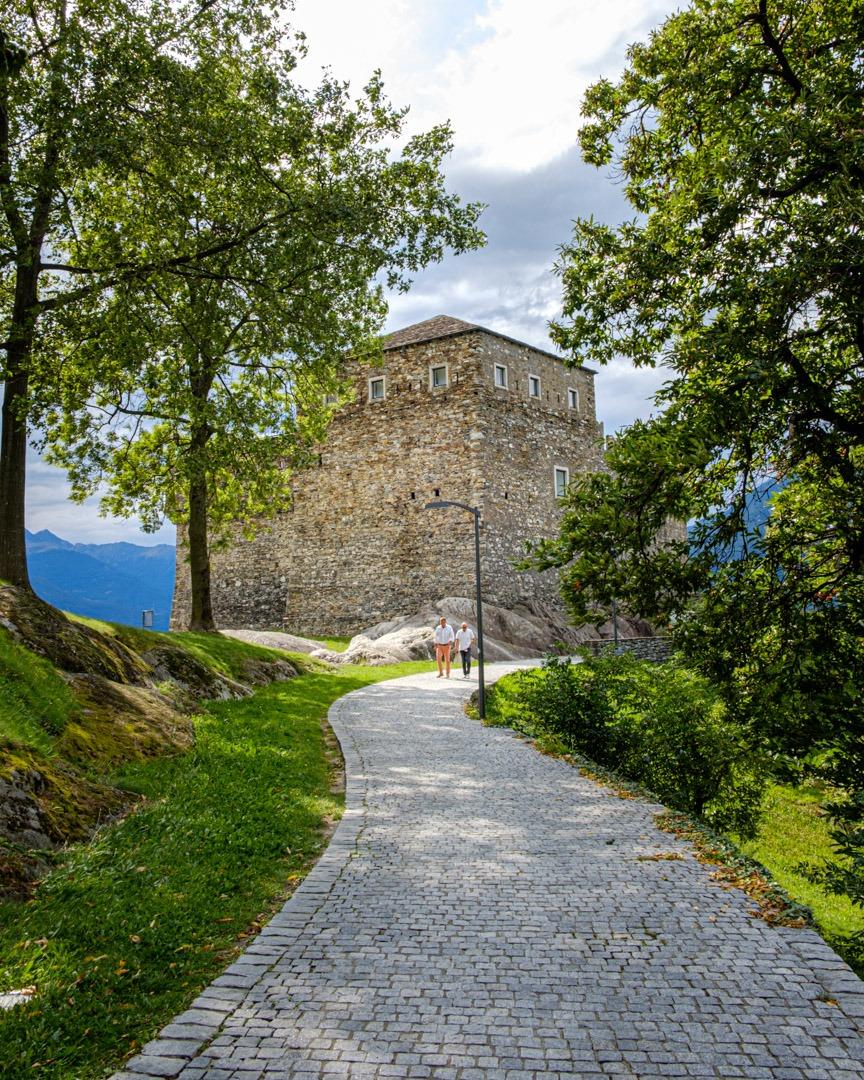Le château de Sasso Corbaro à Locarno