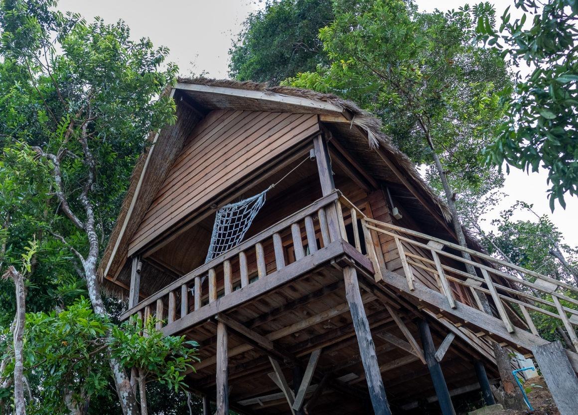 Notre bungalow était aux abords de la jungle sur l'île de Koh Rong.