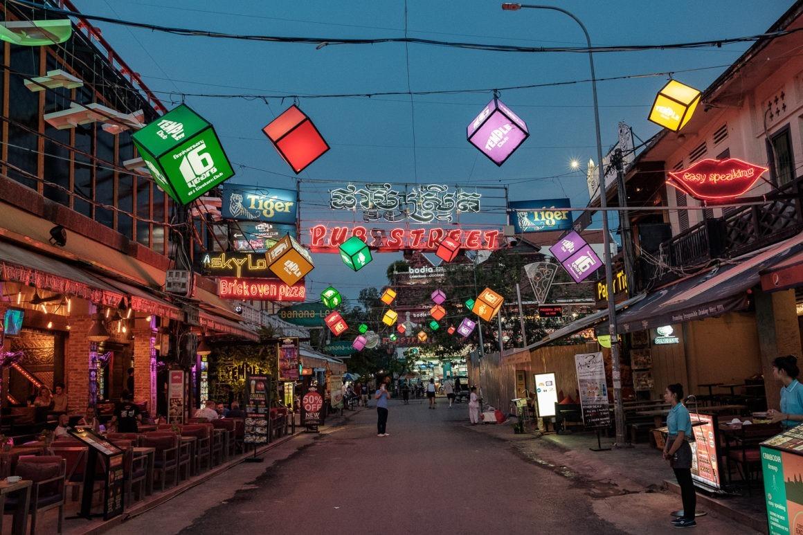 Pub Street est la rue la plus animée de Siem Reap.