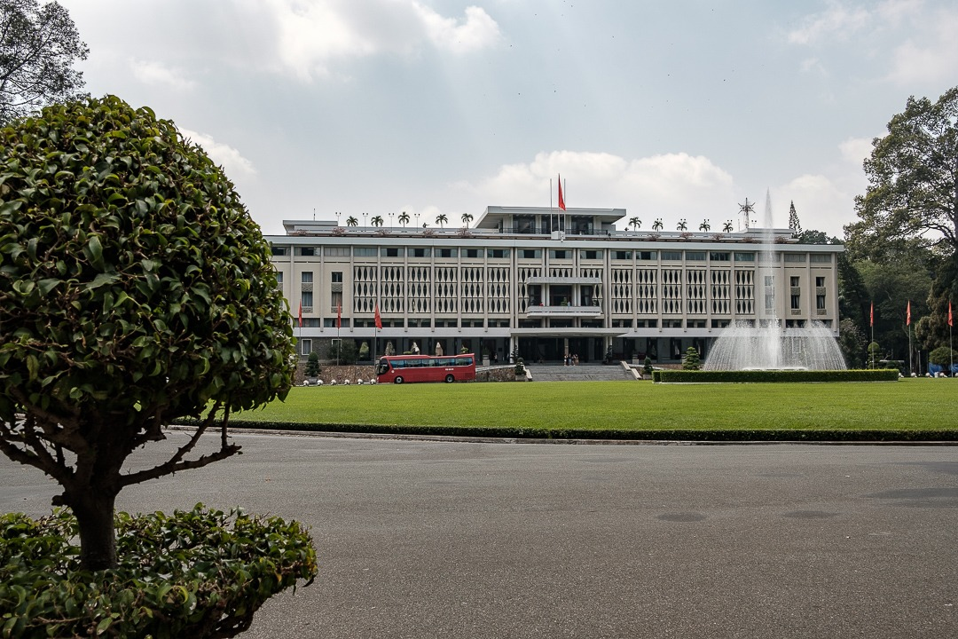 Le Palais de la Réunification à Ho-Chi-Minh-Ville