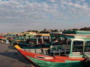 Les bateaux de pêcheurs au Vietnam