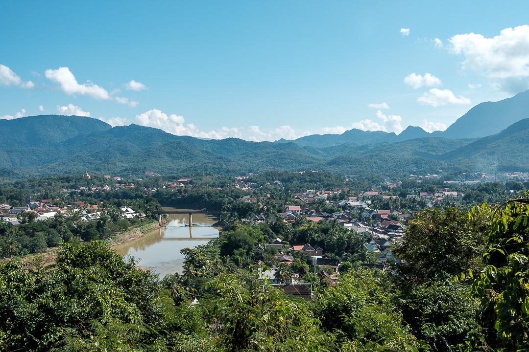 Vue de Luang Pranbang depuis le Mont Phousi