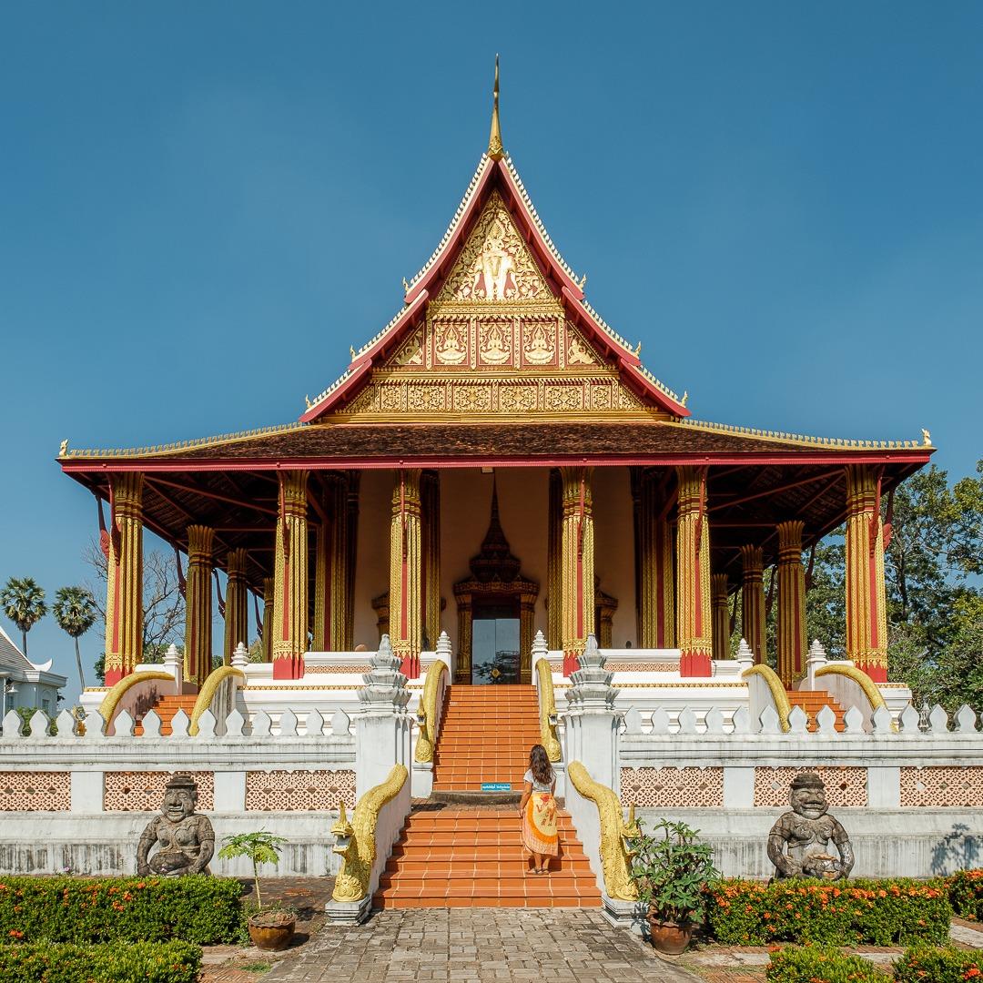 Le temple Vat Phra Keo à Vientiane au Laos