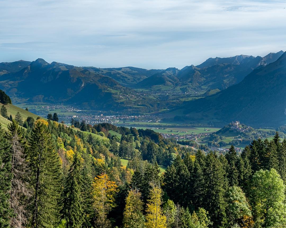 Le tour de Plan-Francey permet d'observer la région La Gruyère.