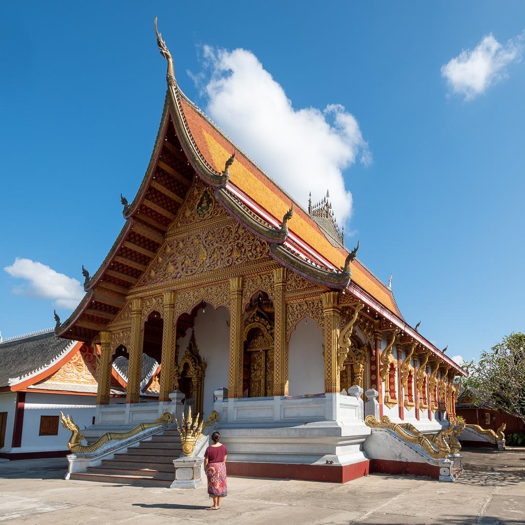 Luang Prabang possède de nombreux temples majestueux.