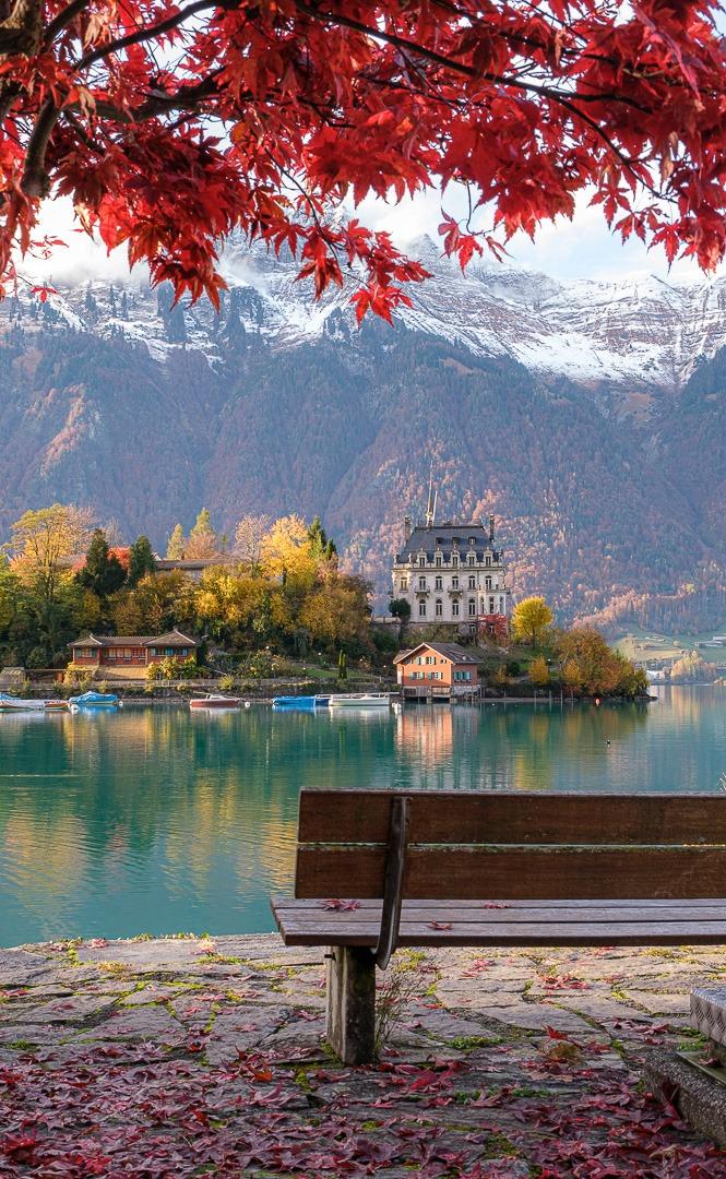 Le château d'Iseltwald en Suisse